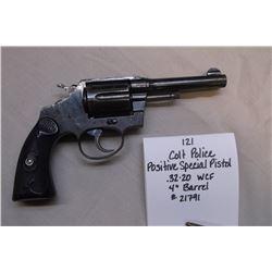 """Colt Police Positive Special Pistol- .32-20 WCF- 4"""" Barrel. #21791"""