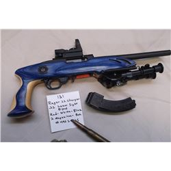 Ruger 22 Charger-.22 Lazer Sight-Bipod-Red/White/Blue-2 Magazines-Box.  #49024325