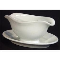 White glazed World War II military German porcelain gravy