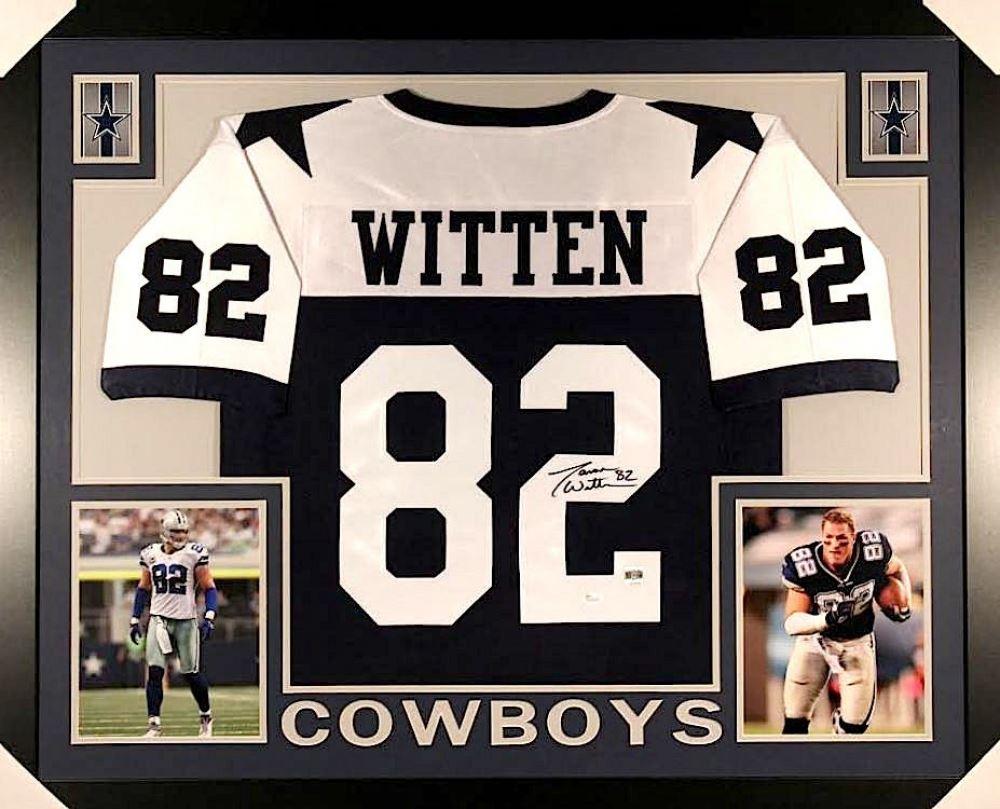 timeless design 29a45 87d5a Jason Witten Signed Cowboys 35x43 Custom Framed Jersey ...