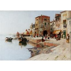 WILHELM VON GEGERFELT 1844-1920 Venetiansk, WILHELM VON GEGERFELT 1844-1920 Venetiansk kaj Sign...