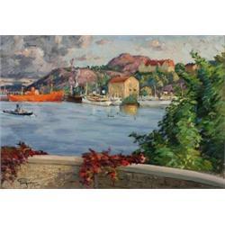 PRINS EUGEN 1865-1947 Fenris på Finnboda -, PRINS EUGEN 1865-1947 Fenris på Finnboda - utsikt f...