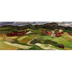 HELMER OSSLUND 1866-1938 Landskap Signerad, HELMER OSSLUND 1866-1938 Landskap Signerad Osslund....