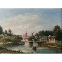 ERNFRIED WAHLQVIST, ERNFRIED WAHLQVIST 1818-1895 Karlbergskanalen Signerad och daterad EW 1886....
