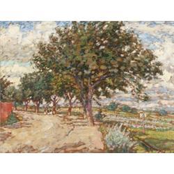 NILS KREUGER 1858-1930 Träd vid väg Signerad, NILS KREUGER 1858-1930 Träd vid väg Signerad och...