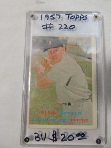 1957 Topps Jackie Jensen Baseball Card