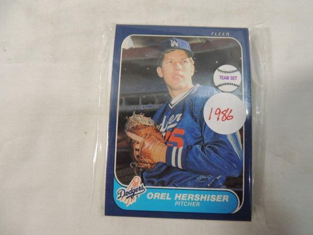 1986 Donruss Baseball Card Team Set Dodgers La