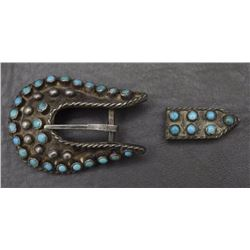 NAVAJO BUCKLE AND TIP