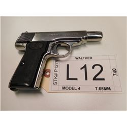 WALTHER , MODEL: 4 , CALIBER: 7.65MM
