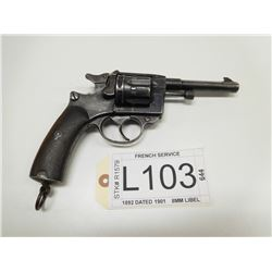 FRENCH SERVICE , MODEL: 1892 DATED 1901 , CALIBER: 8MM LIBEL