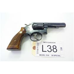 SMITH & WESSON , MODEL: 10-6 , CALIBER: 38 SPECIAL