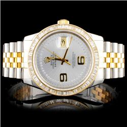 Rolex Two Tone DateJust 2.00ct Diamond Watch