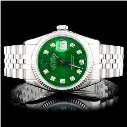 Rolex SS DateJust Diamind Wristwatch