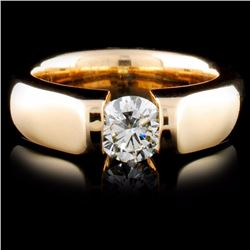14K Yellow Gold 0.42ctw Diamond Ring