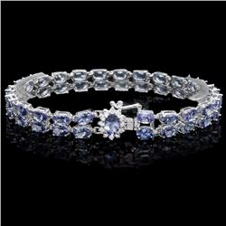 `14k Gold 20ct Tanzanite .40ct Diamond Bracelet