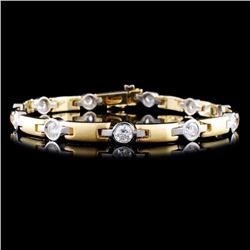 14K TT Gold 2.82ctw Diamond Bracelet