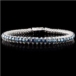 14K WG 6.19ctw Fancy Color Diamond Bracelet