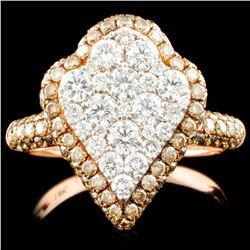 14K Gold 1.91ctw Fancy Color Diamond Ring