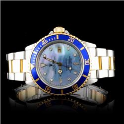 Rolex YG/SS Submariner Diamond Men's Wristwatch