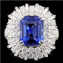 18K Gold 4.73ct Tanzanite & 2.57ctw Diamond Ring