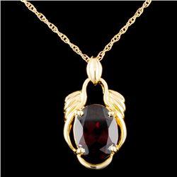 14K Gold 2.30ctw Garnet Pendant