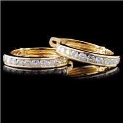 14K Gold 2.47ctw Diamond Earrings