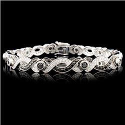 14K Gold 2.47ctw Fancy Color Diamond Bracelet