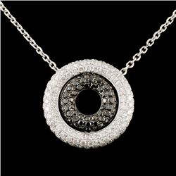 14K Gold 1.12ctw Fancy Color Diamond Pendant