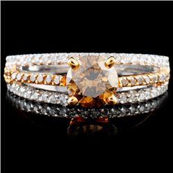 14K Gold 1.12ctw Fancy Color Diamond Ring