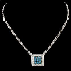 14K Gold 1.25ctw Fancy Color Diamond Necklace