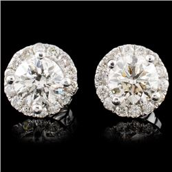 14K Gold 1.13ctw Diamond Earrings