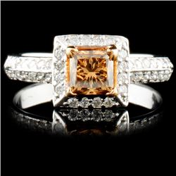 14K Gold 1.07ctw Fancy Color Diamond Ring