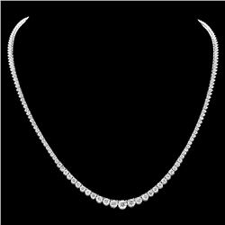 ^18k White Gold 8.50ct Diamond Necklace