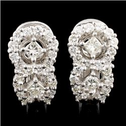 18K Gold 1.52ctw Diamond Earrings