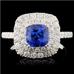 18K Gold 1.14ct Tanzanite & 0.89ctw Diamond Ring