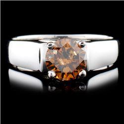 18K Gold 0.96ctw Fancy Color Diamond Ring