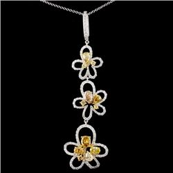 18K Gold 2.76ctw Fancy Diamond Pendant