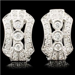 18K Gold 0.68ctw Diamond Earrings