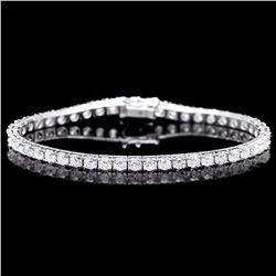 ^18k White Gold 8.00ct Diamond Bracelet
