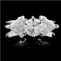 18K White Gold 1.67ctw Diamond Ring