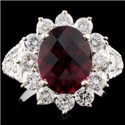 14K Gold 3.22ct Tourmaline & 1.7ctw Diamond Ring