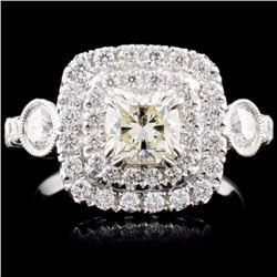 18K White Gold 1.60ctw Diamond Ring