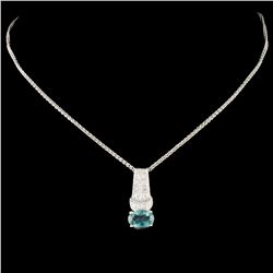14K Gold 0.87ct Alexandrite & 0.10ctw Diamond Pend