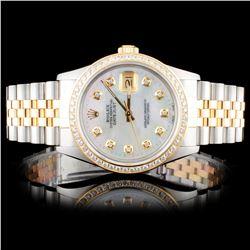 Rolex TwoTone DateJust 1.25ct Diamond Wristwatch