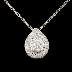 18K Gold 0.53ctw Diamond Pendant