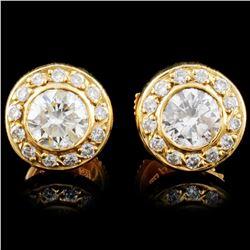 18K Gold 1.17ctw Diamond Earrings
