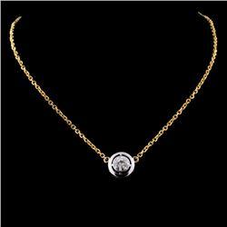 14K Yellow Gold 0.44ct Diamond Necklace