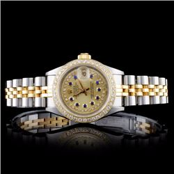 Rolex DateJust 1.00ct Diamond Ladies Watch