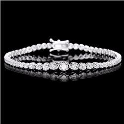 ^18k White Gold 3.00ct Diamond Bracelet