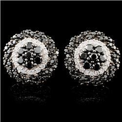 14K Gold 1.78ctw Fancy Diamond Earrings